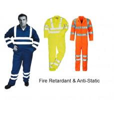 HVE95FRAS Fire Retardant & Anti-Static Hi Visibility Coverall