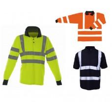 HVE310 FRAS Fire Retardant & Anti-Static Hi Visibility Polo Shirt
