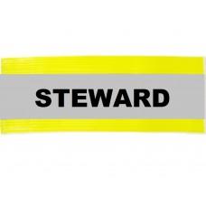 HVE1006 XL Yellow Armband Printed STEWARD