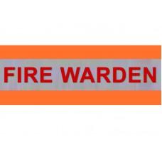 HVE1003 XL Orange Armband FIRE WARDEN