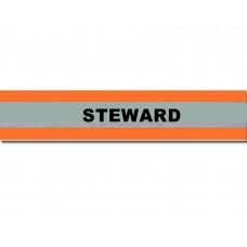 HVE1007 XL Orange Armband Printed STEWARD