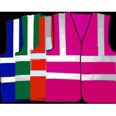 HVE199 Hi Visibility Reflective Coloured Vests