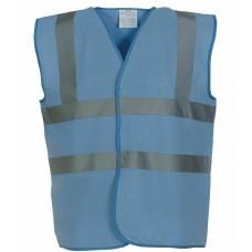 Yoko Hi Visibility Vest Sky Blue