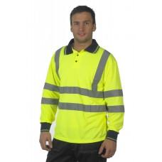 HVE310 Long Sleeve Hi Visibility  Polo Shirt