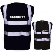 HVE100SEC Black Security Hi Visibility Vest
